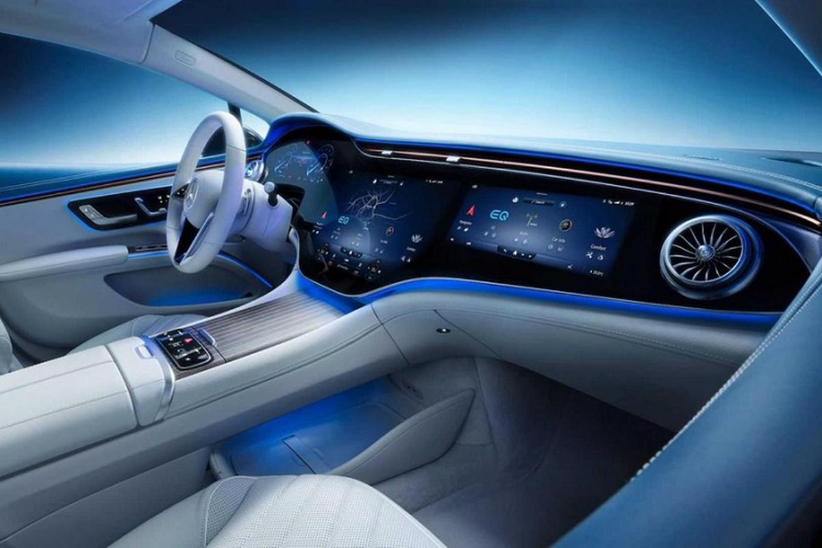Xe dien cao cap Mercedes EQS 2022 lo hinh anh noi that-Hinh-9