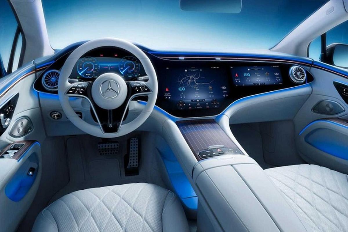 Xe dien cao cap Mercedes EQS 2022 lo hinh anh noi that