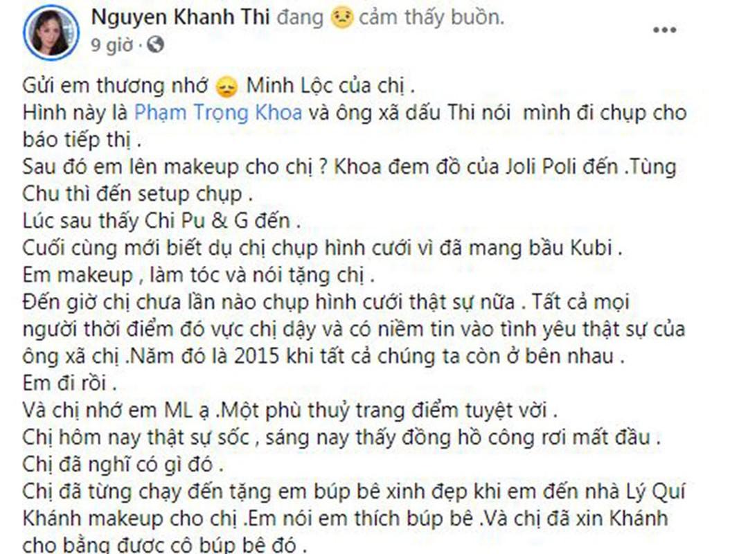"Sao Viet tiec thuong ""phu thuy makeup"" Minh Loc qua doi-Hinh-6"