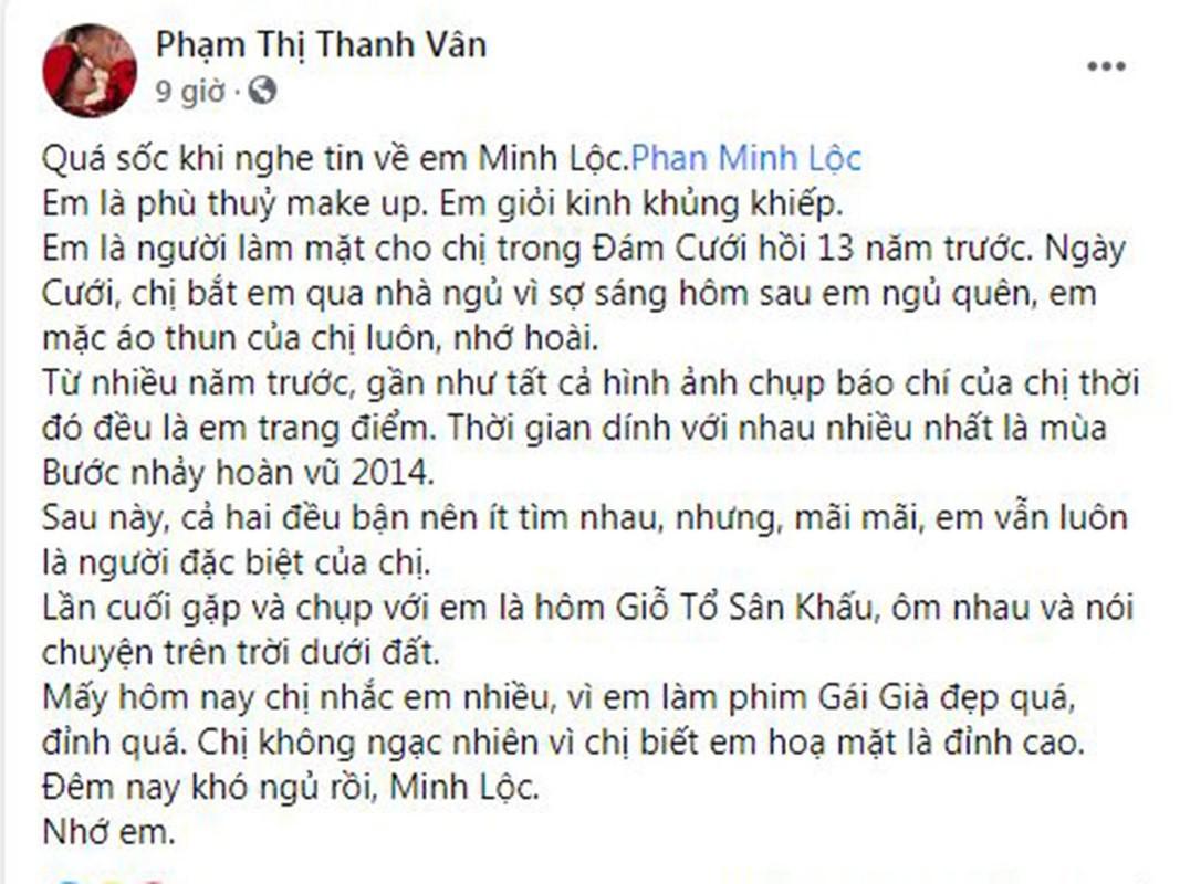 "Sao Viet tiec thuong ""phu thuy makeup"" Minh Loc qua doi-Hinh-7"