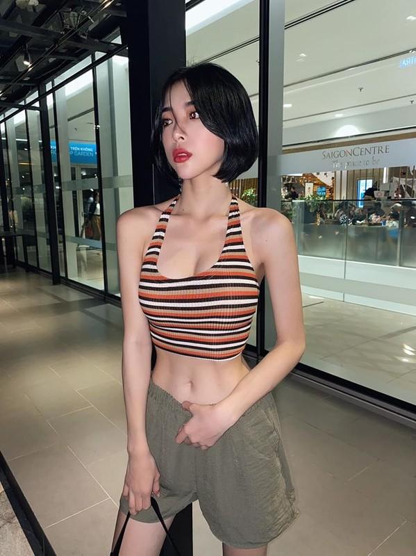 Gu thoi trang sexy khoe vong eo nho kho tin chi 52cm cua co gai Sai thanh-Hinh-6