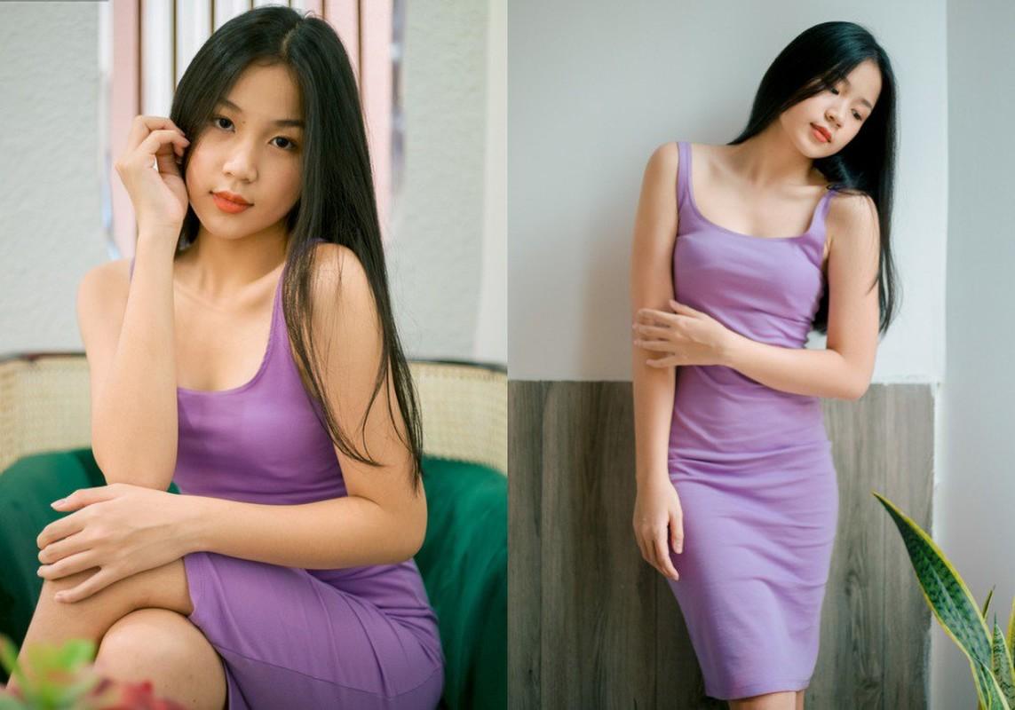 Nhan sac va gu thoi trang nu tinh cua con gai 15 tuoi Luu Thien Huong