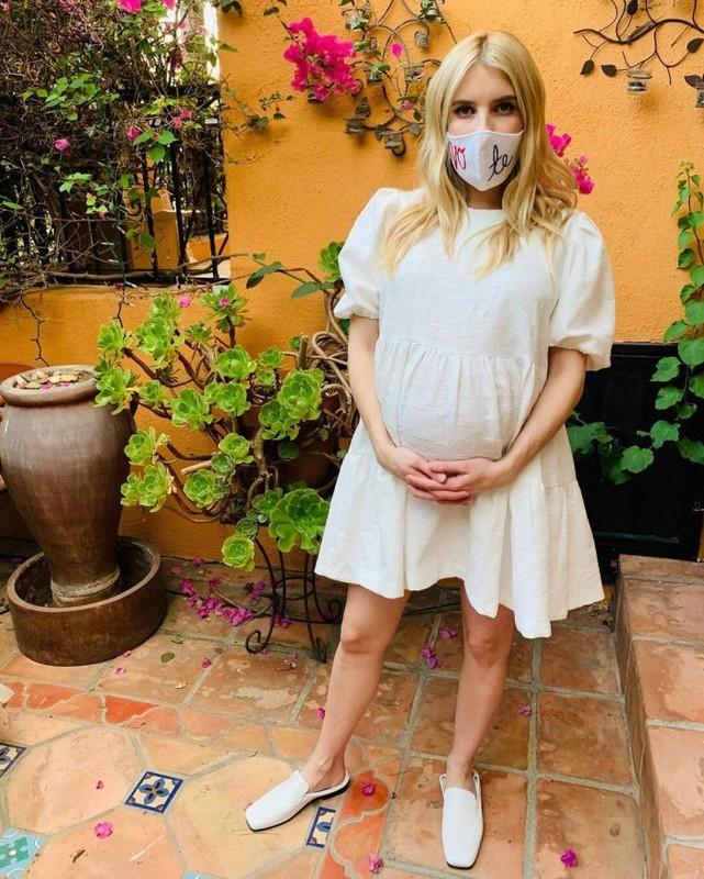 Gu thoi trang bau cuc sanh dieu cua my nhan Hollywood Emma Roberts-Hinh-8
