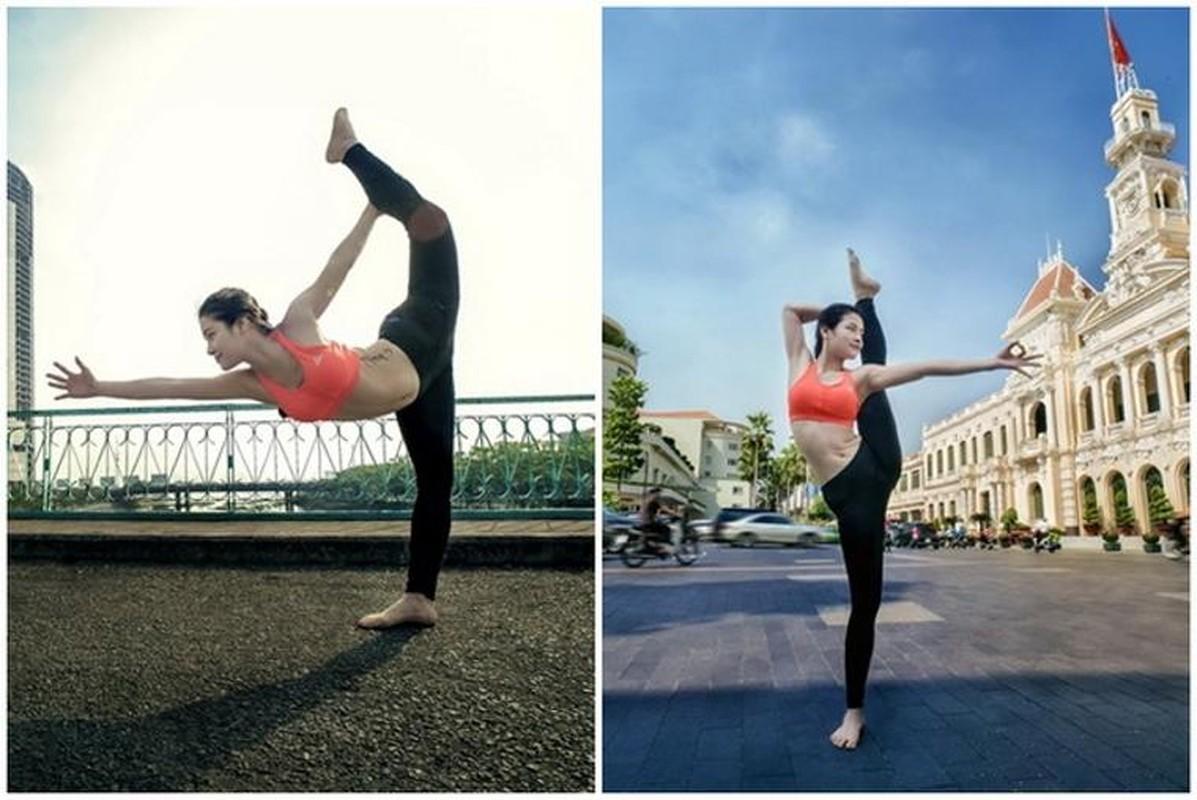 Ngam Phuong Trinh khoe duong cong goi cam voi cac tu the yoga nong bong-Hinh-11