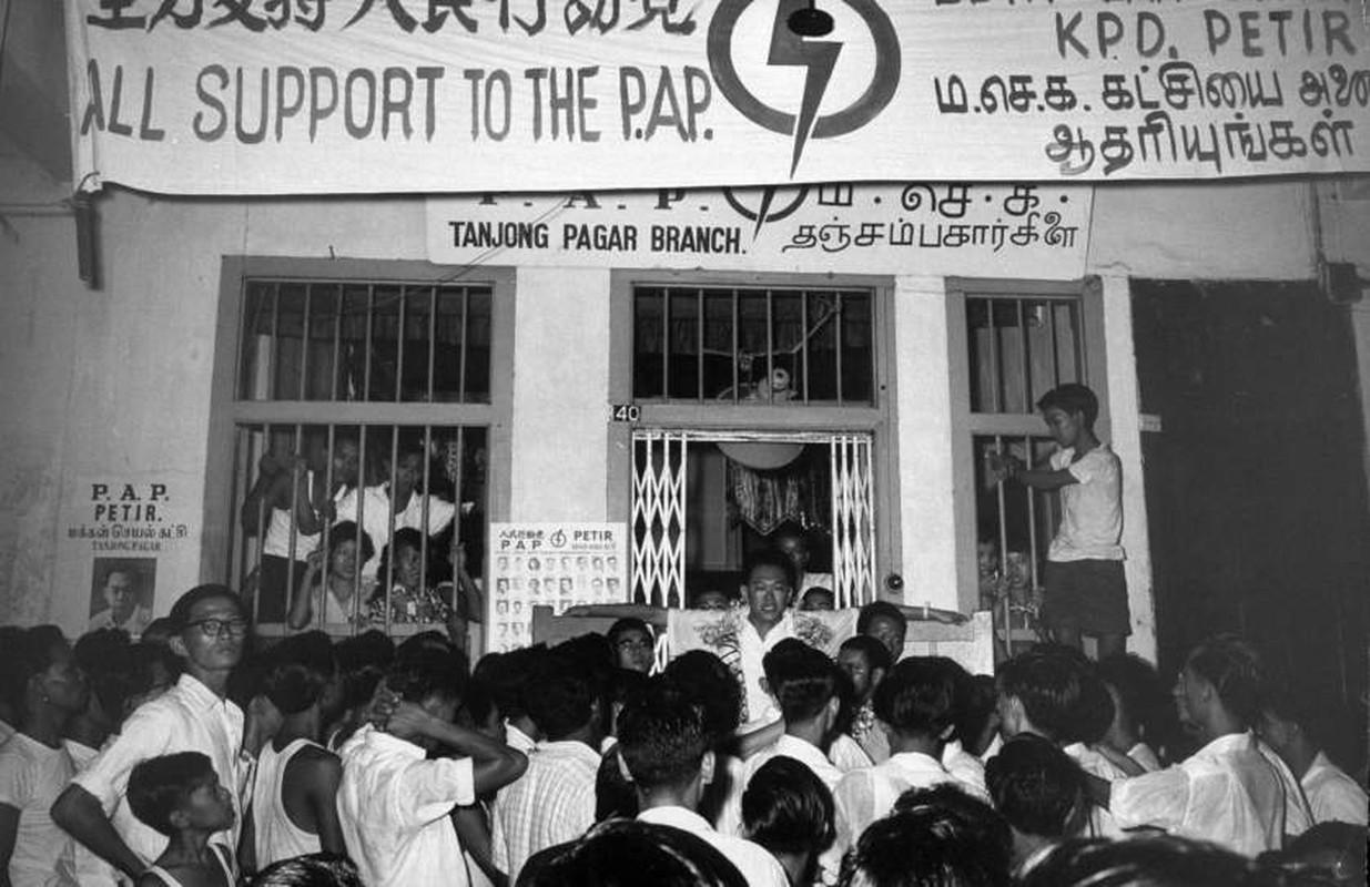 Anh: Ong Ly Quang Dieu trong cuoc tong tuyen cu Singapore 1959-Hinh-8