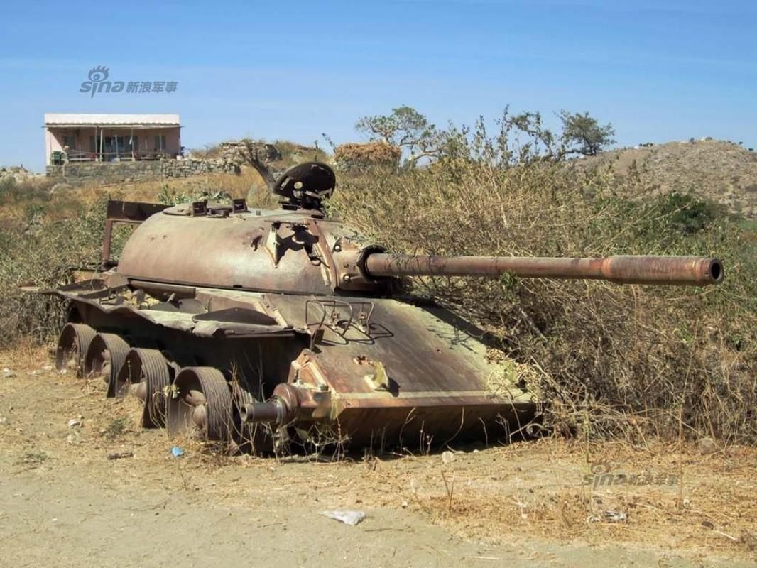Nhoi long loat anh xe tang T-55 bi huy diet-Hinh-4