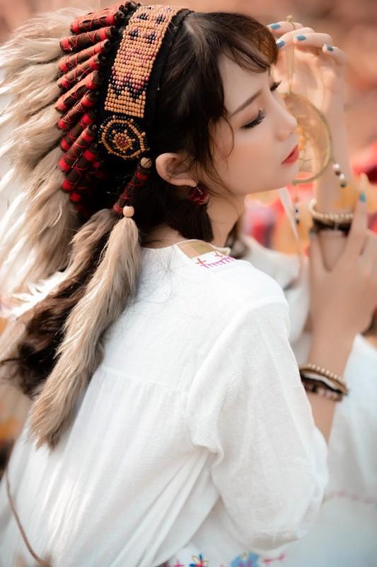 Hoa tho dan sieu de thuong, hot girl 10X Ha thanh gay sot-Hinh-4