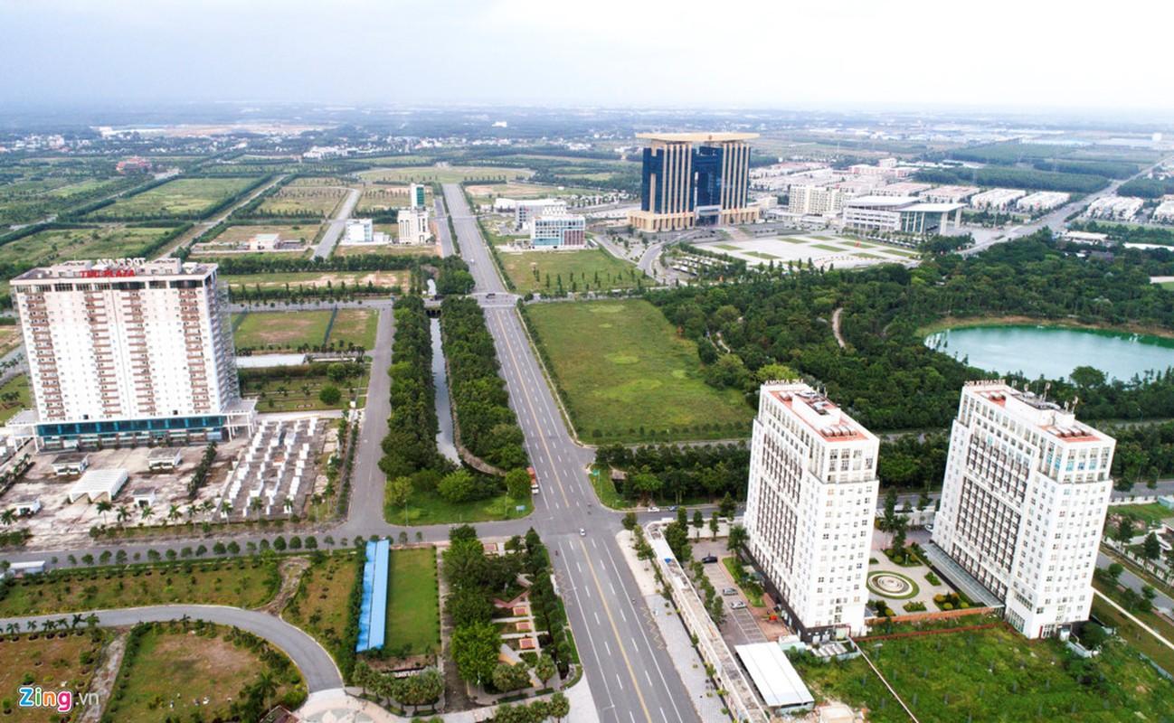 Anh: Thanh pho 1.000ha nhieu nam hoang vang o Binh Duong