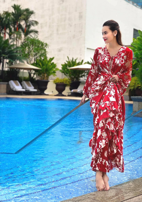 Ho Ngoc Ha cham dien vay dep diu dang khi mang thai-Hinh-4