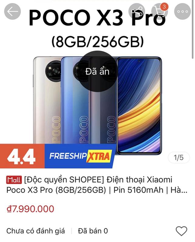 Chua ra thi truong, Xiaomi POCO F3 da bi lo hinh anh tren Shopee Viet-Hinh-5