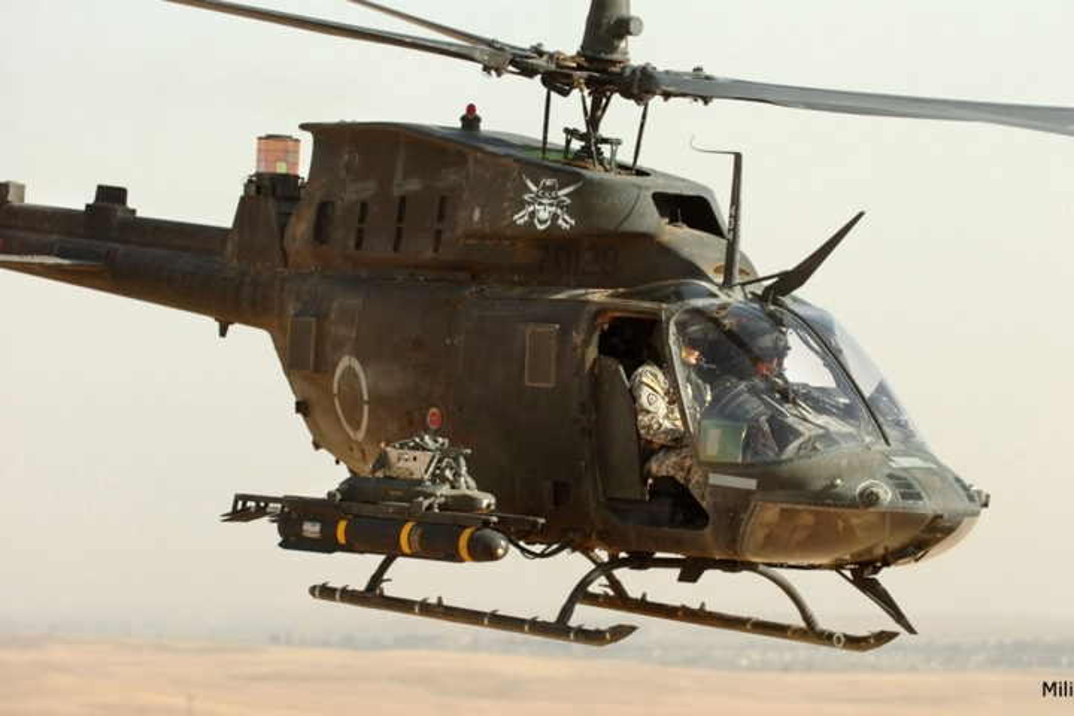 """Anh: Truc thang """"Chien binh"""" trinh sat OH-58D Kiowa cua quan doi My-Hinh-2"""