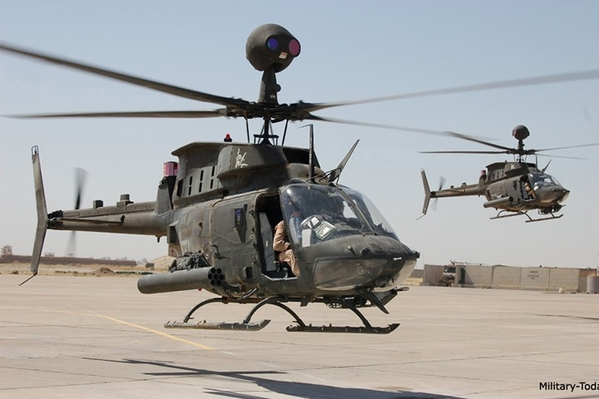 """Anh: Truc thang """"Chien binh"""" trinh sat OH-58D Kiowa cua quan doi My-Hinh-3"""