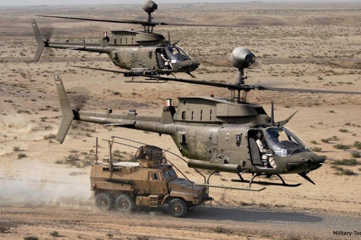 """Anh: Truc thang """"Chien binh"""" trinh sat OH-58D Kiowa cua quan doi My-Hinh-6"""