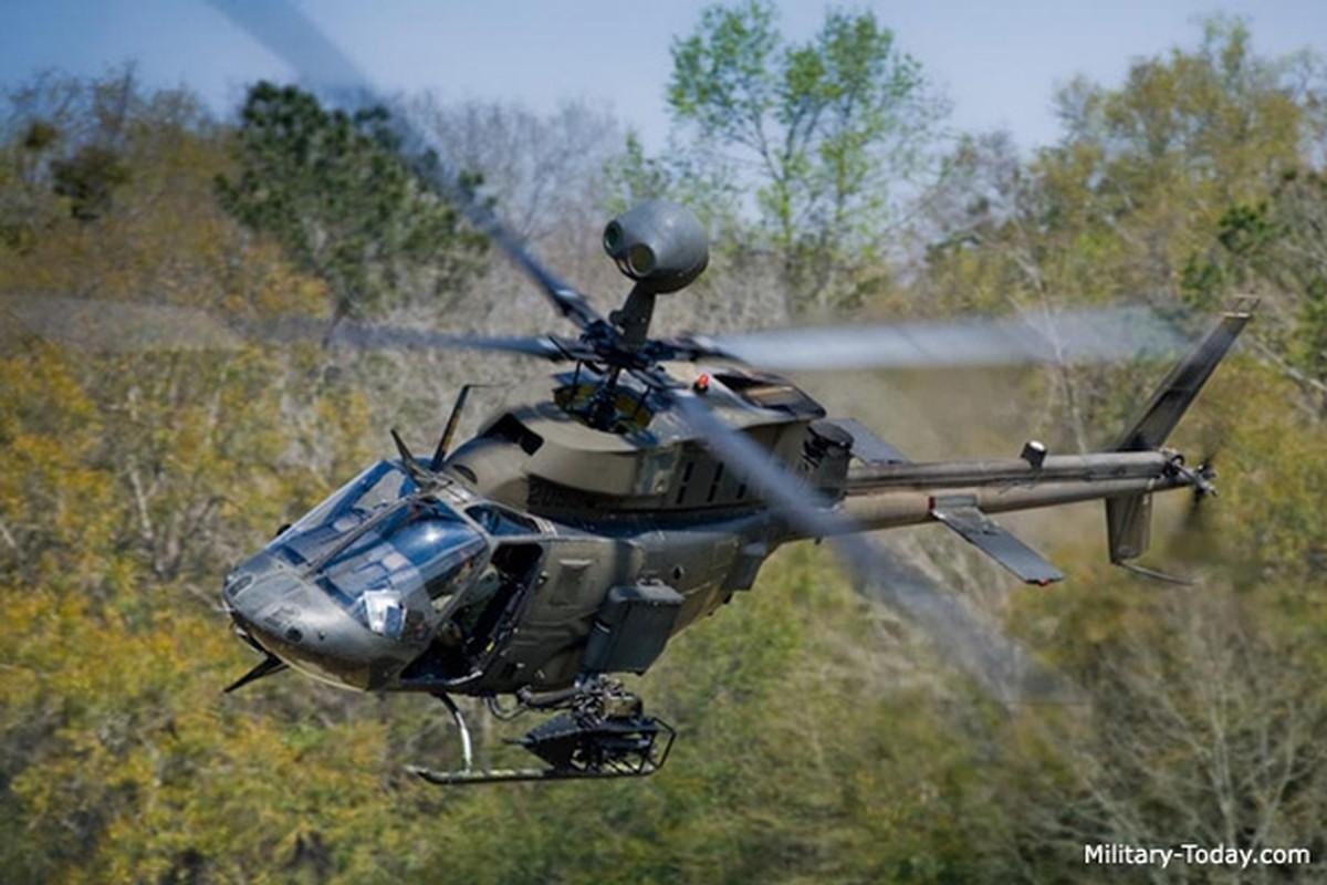 """Anh: Truc thang """"Chien binh"""" trinh sat OH-58D Kiowa cua quan doi My"""
