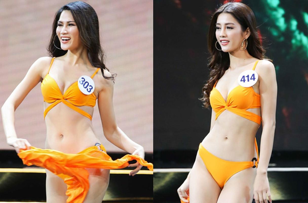 Thi sinh Hoa hau Hoan vu VN nuot na voi bikini trong ban ket