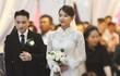 'Soi' áo cưới vợ Phan Mạnh Quỳnh đính thủ công 8.000 viên đá swarovski