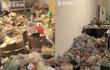 Chủ nhà phát hoảng trước đống rác trong phòng trọ của nam sinh