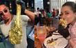 """Độc lạ món bít tết dát vàng ở nhà hàng mới của """"thánh rắc muối"""""""