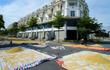 Nông dân phơi thóc vàng ươm trên con đường shophouse tiền tỷ