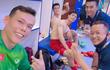 Tấn Trường livestream, Đình Trọng khoe được tặng đồ ăn khi cách ly