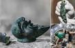 Kỳ bí ngọn đèn dầu hình mặt người khoảng 2.000 năm tuổi
