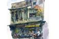 Nhà cổ quanh Chợ Bến Thành và Chợ Lớn qua những bức ký họa