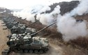 """Pháo binh Hàn Quốc dùng """"Thần sấm"""" K9 Thunder thị uy trước Triều Tiên"""
