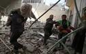 Cảnh tan hoang vụ không kích ở thủ đô Damascus