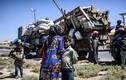 Ảnh: Giao tranh ác liệt, thường dân Syria lũ lượt rời Raqqa