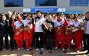 Hình ảnh vận động viên Triều Tiên được chào đón ở Hàn Quốc