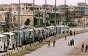 Cận cảnh đoàn xe chở phiến quân Syria rút chạy khỏi Đông Ghouta