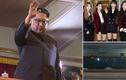 Hình ảnh hiếm hoi lãnh đạo Kim Jong-un xem sao Hàn biểu diễn