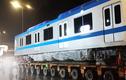 Video: Hơn 3 giờ vận chuyển tàu metro về depot Long Bình