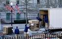 Ảnh: Nhân viên Nhà Trắng bắt đầu gói ghém đồ đạc