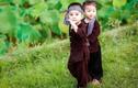 """Cặp chị em 3 tuổi Bắc Giang """"hóa nông dân chính hiệu"""""""