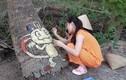 Rảnh quá hóa hay, cô gái vẽ lên cây thể hiện fan cứng của Pokemon