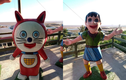 """""""Cười bò"""" bức tượng Nobita và những người bạn phiên bản """"ngáo ngơ"""""""