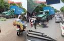 Xe máy va chạm container, một chiến sĩ công an thiệt mạng