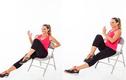 Bài tập vận động với ghế giúp bạn tiêu mỡ hiệu quả