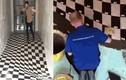 Tự tay lát sàn nhà 3D độc đáo nhất từng thấy