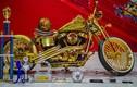 """""""Phát thèm"""" siêu môtô Harley-Davidson mạ vàng thật"""