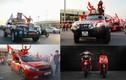 Mãn nhãn dàn xe rực rỡ sắc cờ cổ vũ tuyển Việt Nam