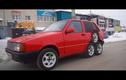 Dân chơi Nga tự chế xe hatchback Fiat Uno 8 bánh