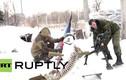 Lính Donetsk trang bị vũ khí hạng nặng cho người tuyết