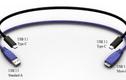Thích thú dây nối USB đảo ngược đầu cực độc