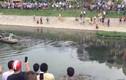 Clip: Tên trộm xe máy bơi dưới sông Tô Lịch thoát thân