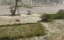 Mưa đá rơi như tuyết trắng trời thị trấn Nông trường Mộc Châu