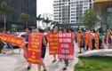 Hancorp xẻ đất xây bệnh viện, cư dân Ngoại Giao Đoàn lại xuống đường phản đối
