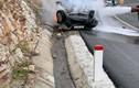Xe lật trên đường đi chùa Yên Tử, 1 người chết tại chỗ