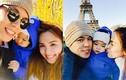 Vợ chồng Diễm Hương hạnh phúc bên con trai ở Paris